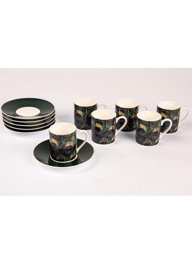 Mikasa Moor Şans 6 Kişilik Kahve Fincan Seti Yeşil